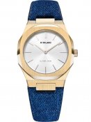 D1 Milano UTDL03 Classic Denim Ultra Thin 34 mm Dam 5ATM