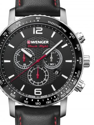 Wenger 01.1843.101 Roadster Black Night Chronograph 44mm 10ATM
