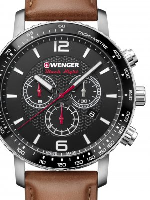Wenger 01.1843.104 Roadster Black Night Chronograph 44mm 10ATM