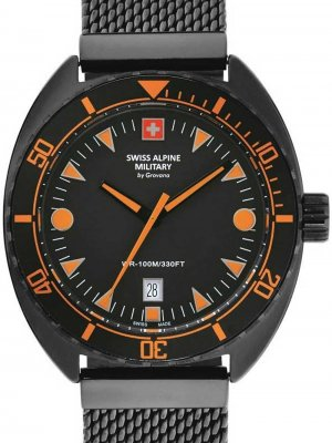 Swiss Alpine Military 7066.1179 turtle Herr 44mm 10ATM