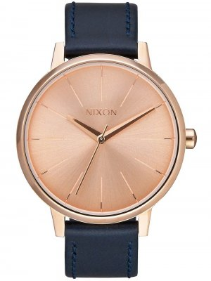 NIXON A108-2160 Kensington Leather Rose Gold Navy 37mm 5ATM