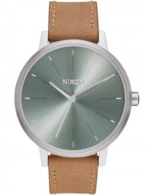 Nixon A108-2217 Kensington Leather Saddle Sage 37mm 10ATM