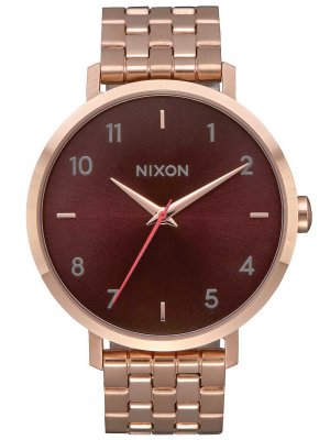 Nixon A1090-2617 Arrow All Rose Gold Brown 38mm 5ATM