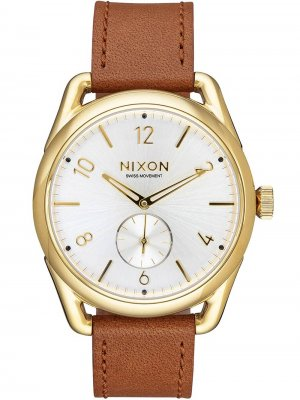NIXON A459-2227 C39 Leather Gold Saddle White 39mm 10ATM