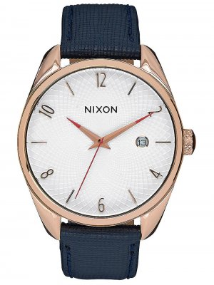 NIXON A473-2160 Bullet Leather Rose Gold Navy 38mm 5ATM