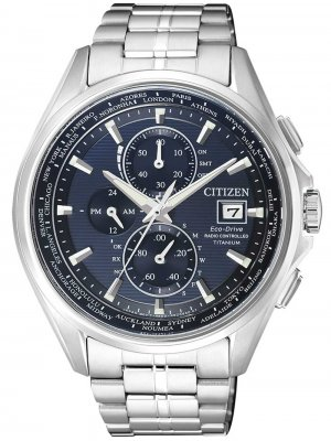 Citizen Eco-Drive Super-Titanium Radio Controlled Chrono AT8130-56L herrklocka framsida