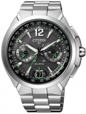 Citizen Satellite-Wave GPS CC1090-52F herrklocka fram