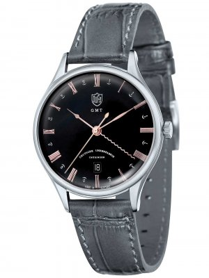 DuFa DF-9006-08 Weimar GMT 38mm 3ATM