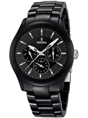 Festina Ceramic F16639/2 Dam multifunktion svart 40 mm