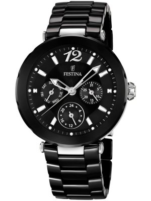 Festina Ceramic F16641/2 Dam multifunktion svart 38 mm