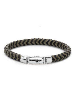 Rebel & Rose Armband Black-Olive RR-L0062-S-L